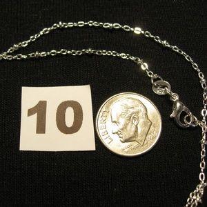 "Jewelry - Sterling Silver 925 Satellite NeckChain 18"" 1.5mm"